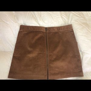 Gap NWT Corduroy Zip Front Mini Skirt